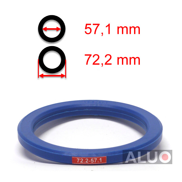 4 x Anelli di Centraggio Anello Distanziatore per Cerchi in Allumio M04 72,2-57,1 mm Mille Miglia Moto