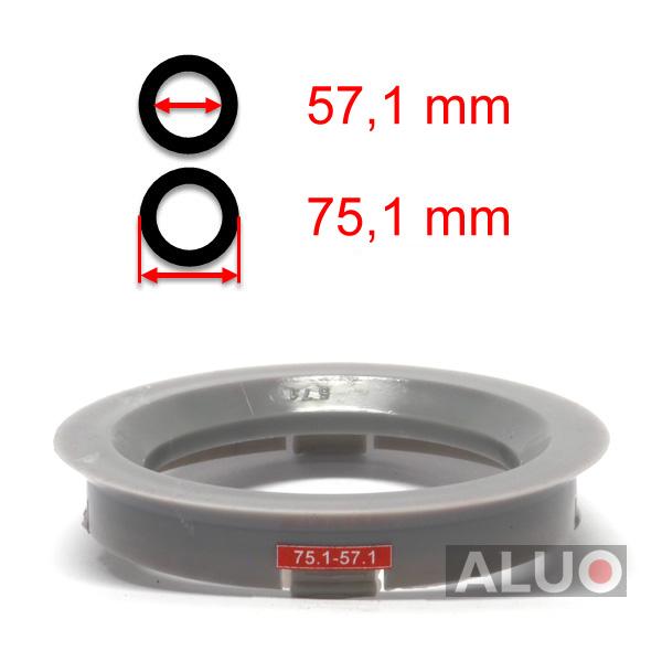 4 anelli di centraggio 57,1 mm 52,1 mm