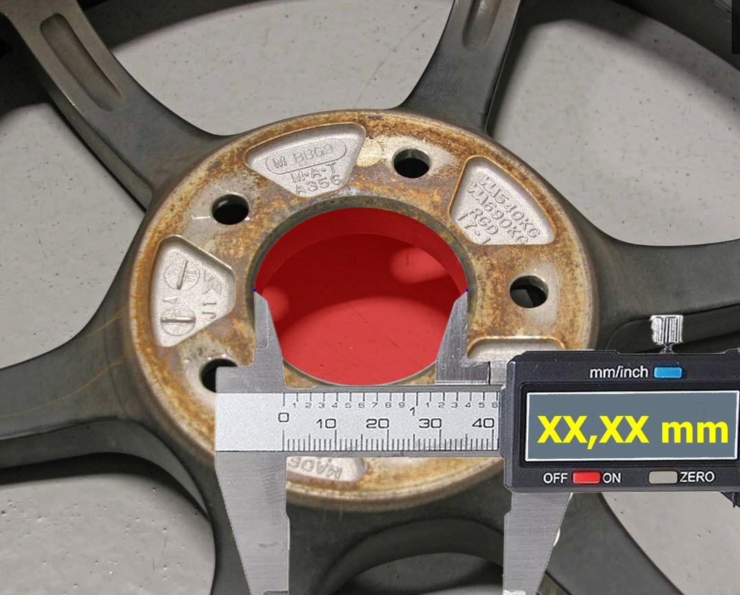 4 x 72.6-65.1 LEGA RUOTA gli anelli di centraggio HUB rubinetto adatta CITROEN XM